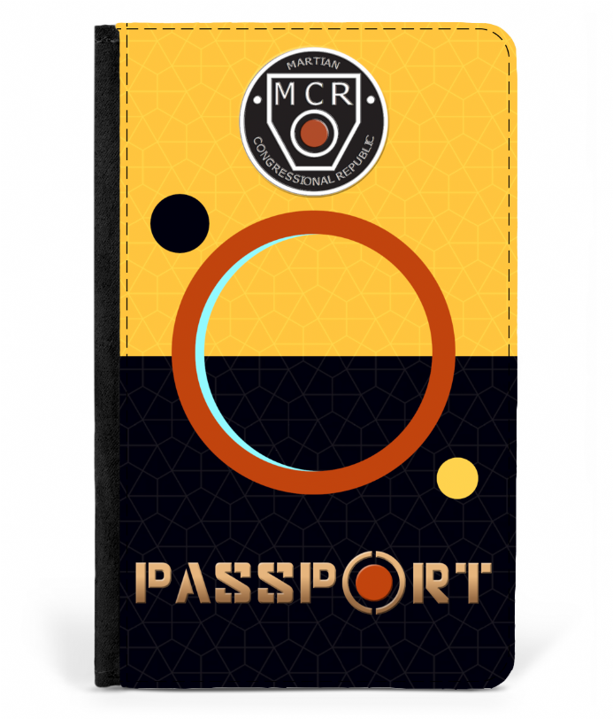 Mars Congressional Republic Faux Leather Passport Cover Inspired by The Expanse
